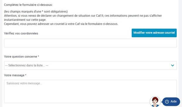 comment prendre contact avec la caf   t u00e9l u00e9phone  mail