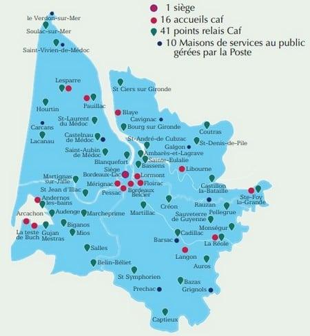 68 antennes dans la CAF de gironde