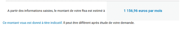 rsa estimation caf