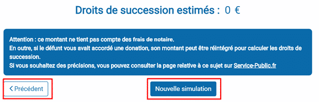 estimation droit de succession
