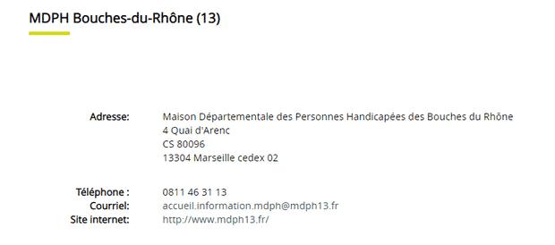 adresse de la mdph