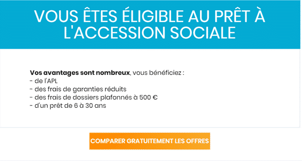 pret accession sociale sans apport simulation