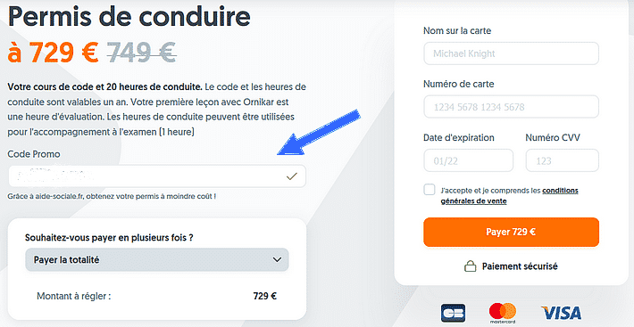 code réduction ornikar