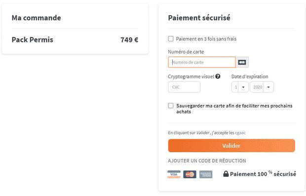 Passez le permis de conduire pour 739€