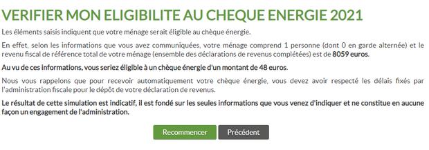 cheque energie resultat simulation
