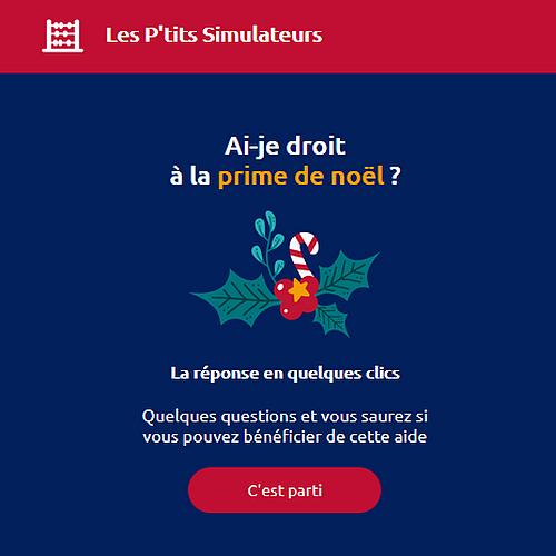 Simulation de la prime de Noël 2021